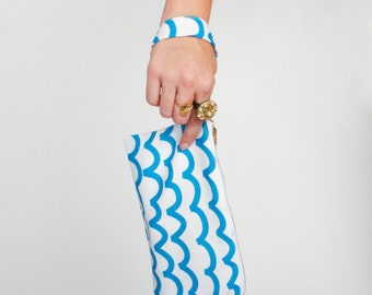 Blue Waves Clutch
