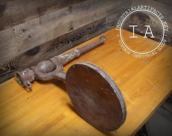 Vintage Industrial Republic MFG Cast Iron Sink Mount Swing Stool