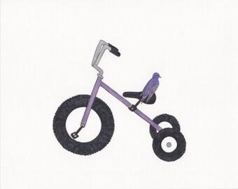 "purple martin and purple trike wall art 8""x10"" print"