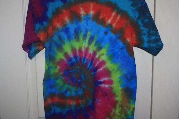 youth l spiral tie dye crew neck t shirt