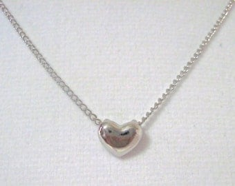 "Heart minimalist necklace. "" Floating Love Heart """