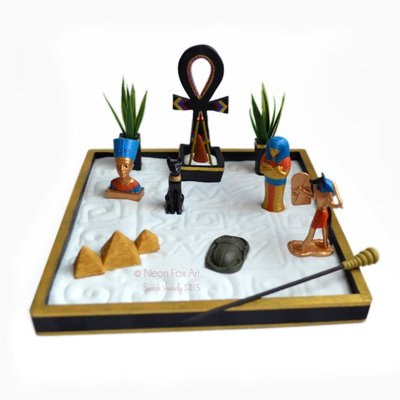 mini zen garden ancient egypt ankh incense holder. Black Bedroom Furniture Sets. Home Design Ideas
