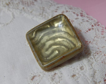 Square Celluloid Tight Top Glow Button