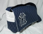 Made To Order Sports Logo of Your Choice Diaper Bag Applique logo  Quilted