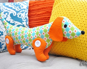 New! Sew-a-Long-Little-Doggy Dachshund PDF Pattern