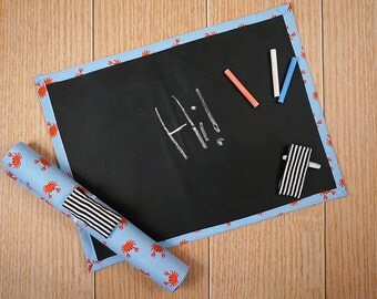 Travel Chalkboard Mat - Crabs