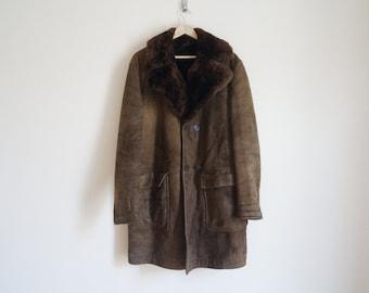 Vintage 70s Lambskin Shearling Coat