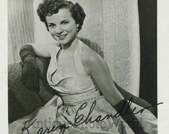 Beautiful singer Karen Chandler vintage hand signed autographed photo