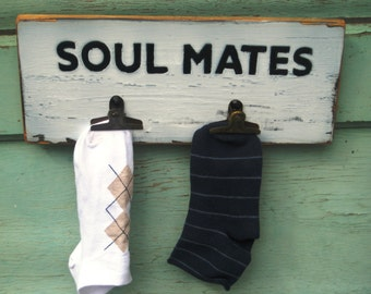Lost Socks Laundry Decor Soul Mates Missing Socks Sole Mates Laundry Room Decor Shower Gift Wood Sign Wood Laundry Room Sign Wood Wall Art