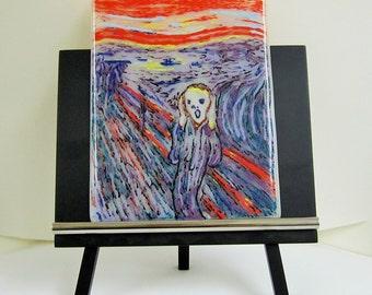 The Scream -  Fused Glass Art Panel