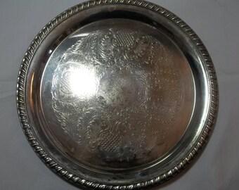 Crosby silverplate tray