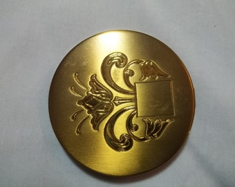 1960s vintage brass compact