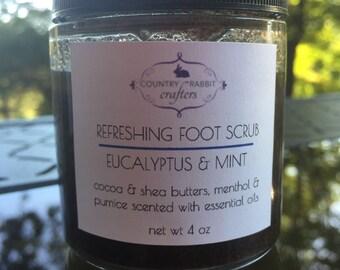 Foot Scrub - Foot Bath - Peppermint Foot Scrub - Peppermint Scrub - Pumice Foot Scrub - Eucalyptus Scrub - Mint Foot Scrub - Mint Scrub