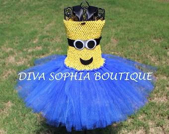 Minion Two Eyes Tutu Dress/ Minion Costume