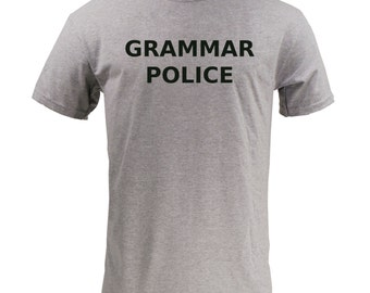 Grammar Police Block Text - Sport Grey