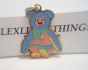TY Beanie Babies Peace Bear Pendant Peace Sign Charm Costume Jewelry Hippie