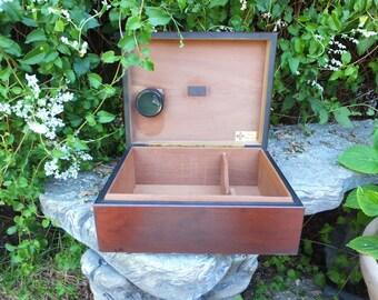 Vintage Handmade Humidor / Made in the USA / Solid Wood Humidor or Cigar Box
