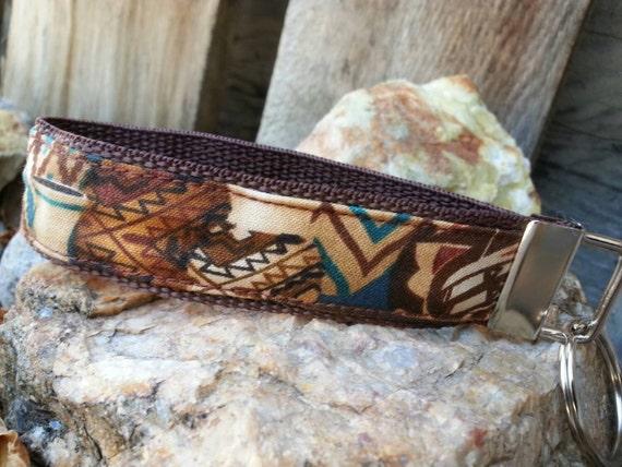 Southwest Keychain Wristlet, Aztec Keychain