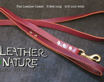 Leather Leash by LeatherNature