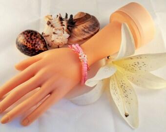 Pink Multi-strand Beaded Bracelet