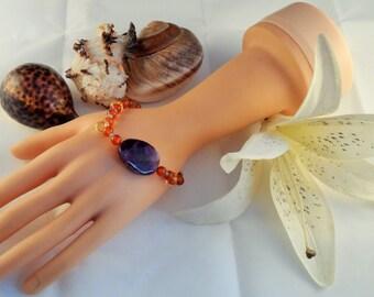 Amethyst, Carnelian, Apatite and Citrine Bracelet (GB 0030)