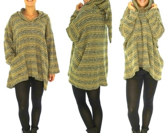 HP700BG sweater layered look ladies tunic Gr. 38-54 beige/black