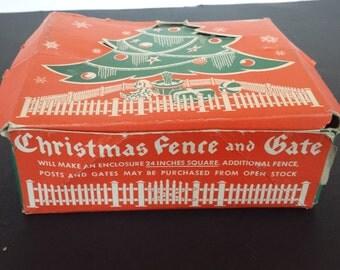 Plastic Christmas Fence