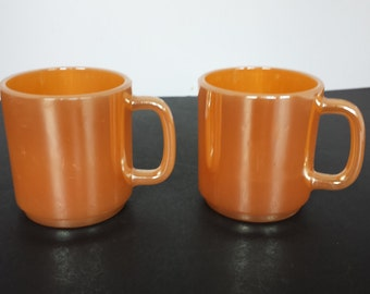 Pair of Fire King D Mugs