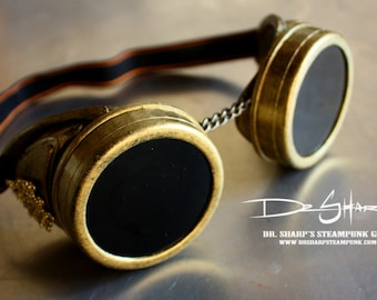 Gold Pilot Goggles by Dr. Sharp