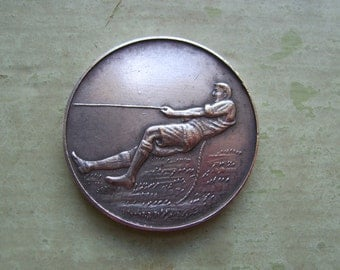 A Vintage Tug Of War Medal/Medallion White Metal Circa 1920's-1930's.