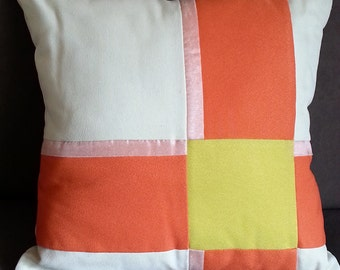 Decorative Cushion Cover, CITRUS Lime, Orange and Icecream, 44x44cm