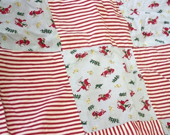 Cowboys and stripes quilt