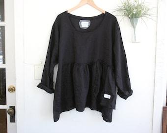 Linen Tunic / ' Maia' Tunic Shirt / by Breathe Clothing