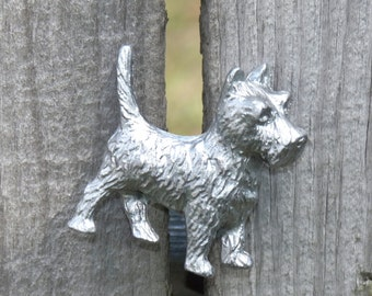 Canine Furniture Knobs, Dog Knobs, Small Knobs, Drawer Knob, Metal Pulls, Drawer Pulls, Scotty Terrier Knobs, Animal Pulls, Cabinet Knobs
