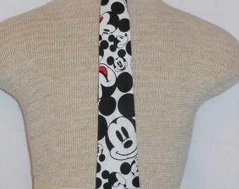 Mickey Mouse Necktie, Disney Mickey Mouse Necktie for Men and boys of all ages, Custom Boutique, Unique and Handmade, Mickey Mouse Necktie
