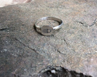 Stamped Stacking Sterling Silver Rings Native Inspired