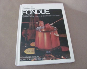 Vintage Fondue Cookbook, 1970's Gourmet International Fondue Cookbook, Vintage Fondue Recipes, 1970's Recipes