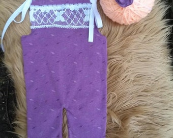 Newborn Upcycled Romper Sewing Pattern, Upcycled Romper Pattern, Upcycled Romper Photo Prop Pattern, Romper Photo Prop Pattern