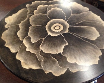 SALE.....Hand Stained Flower Dining/entry Table