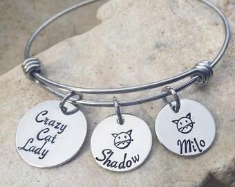 Sale - Cat Mom - Crazy Cat Lady - Cat Jewelry - Cat Mom Jewelry - Animal Rescue - Cat Rescue - Cat Brag