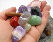 1/4# Tumbled and Polished Mixed Stones - Polished Stones, Tumbled Stones, Chakra, Reiki