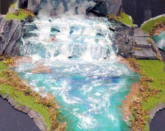 PayPal Only Pls  FOOFIGHTERUBU WARGAME TERRAIN Commission Waterfall & 6 ft River