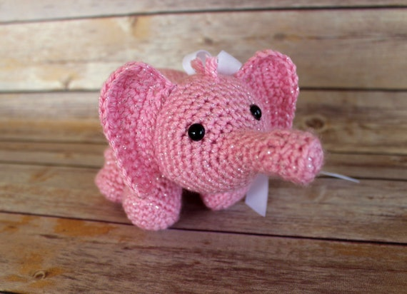 Ella The Elephant Free Crochet Pattern : Ella The Baby Elephant Crochet Elephant toyElephant toy