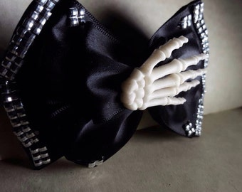 Black skeleton hair bow ( buy more save more)