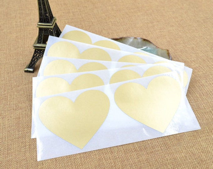 Heart Shaped Scratch Off Stickers - Gold - Secret Messages Game Scratchies Prizes