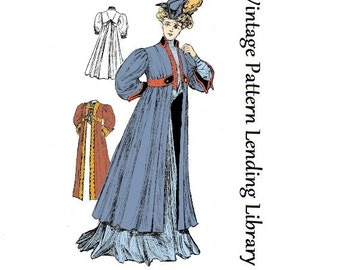 1910 Ladies Empire Coat - Reproduction Sewing Pattern #E2034