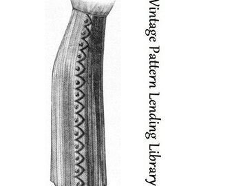 1912 Ladies Skirt with Zig Zag Detailing - Reproduction Sewing Pattern #E0200