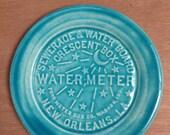 New Orleans Water Meter Handmade Glacier   Blue Souvenir Plate