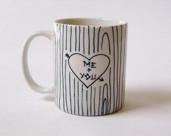 Me + You Hand-Painted Ceramic Mug