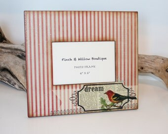 Bird Picture frame, Photo frame, Victorian photo frames, 4 x 6 frame